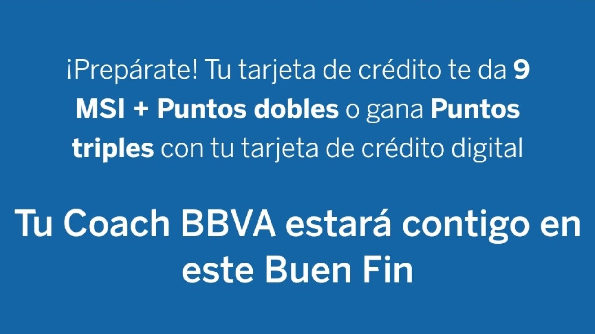 Puntos dobles BBVA Bancomer (del 20 de Noviembre al 20 de Diciembre)