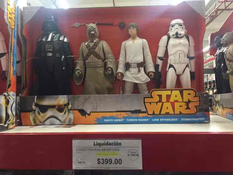 Sam's Club: 4 figuras de Star Wars de 50cm por $399