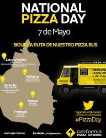 CPK: pizza gratis mañana (DF y GDL)