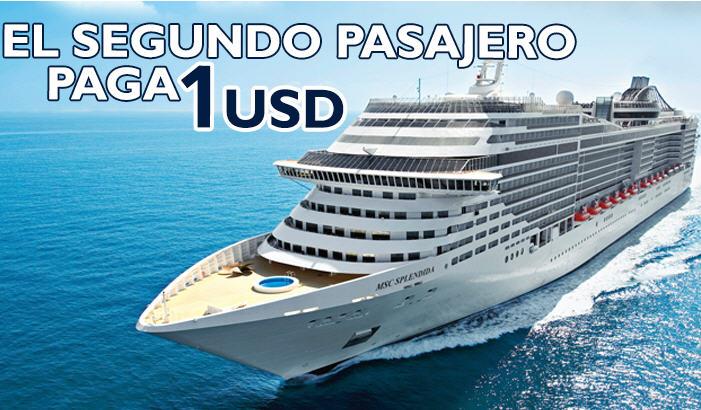 MSC Cruceros: crucero por el Mediterráneo segundo pasajero paga $1