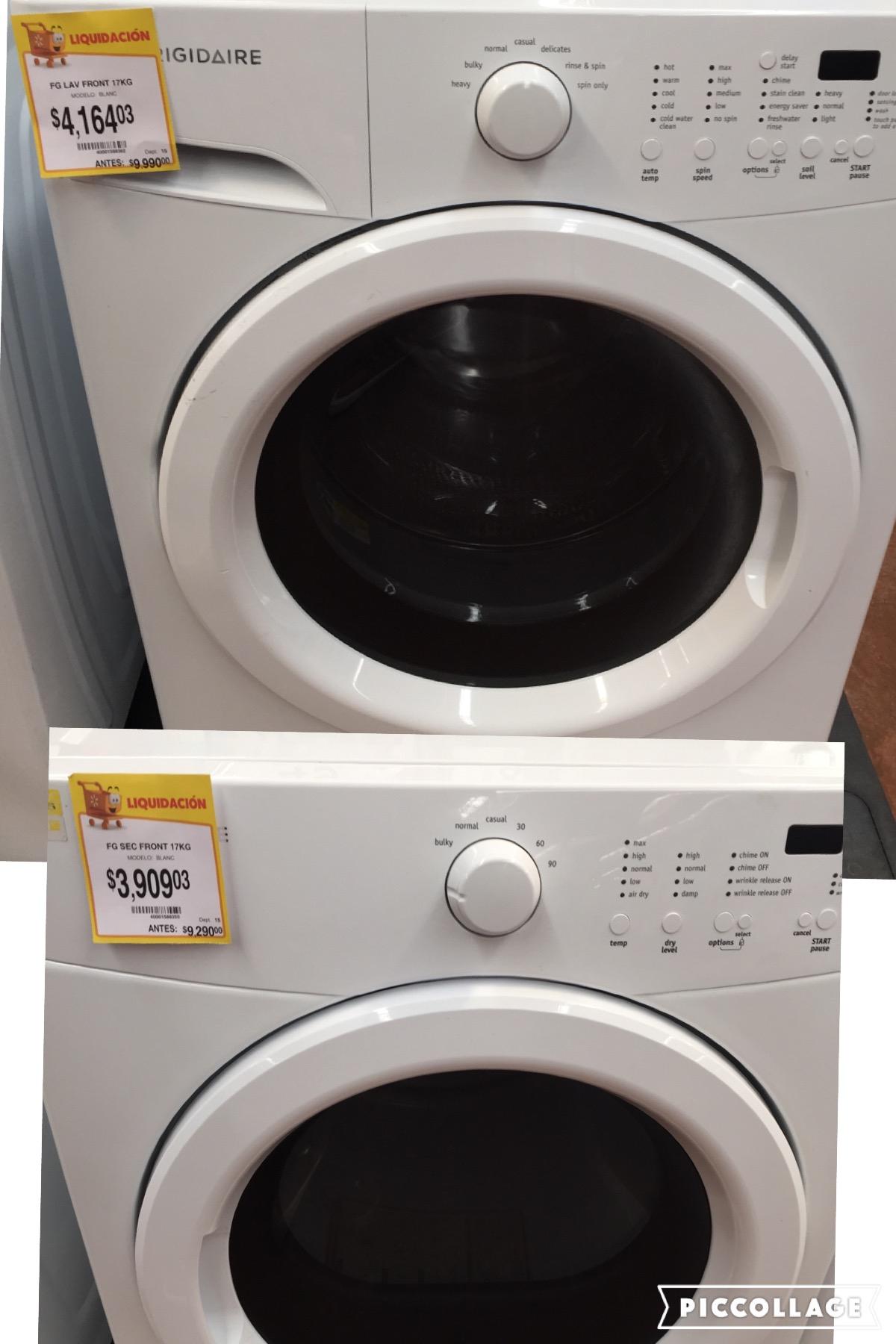 Walmart Cuautla: lavadora 17 kg a $4,164.03 y secadora 17 kg de $9,290 a $3,909.03
