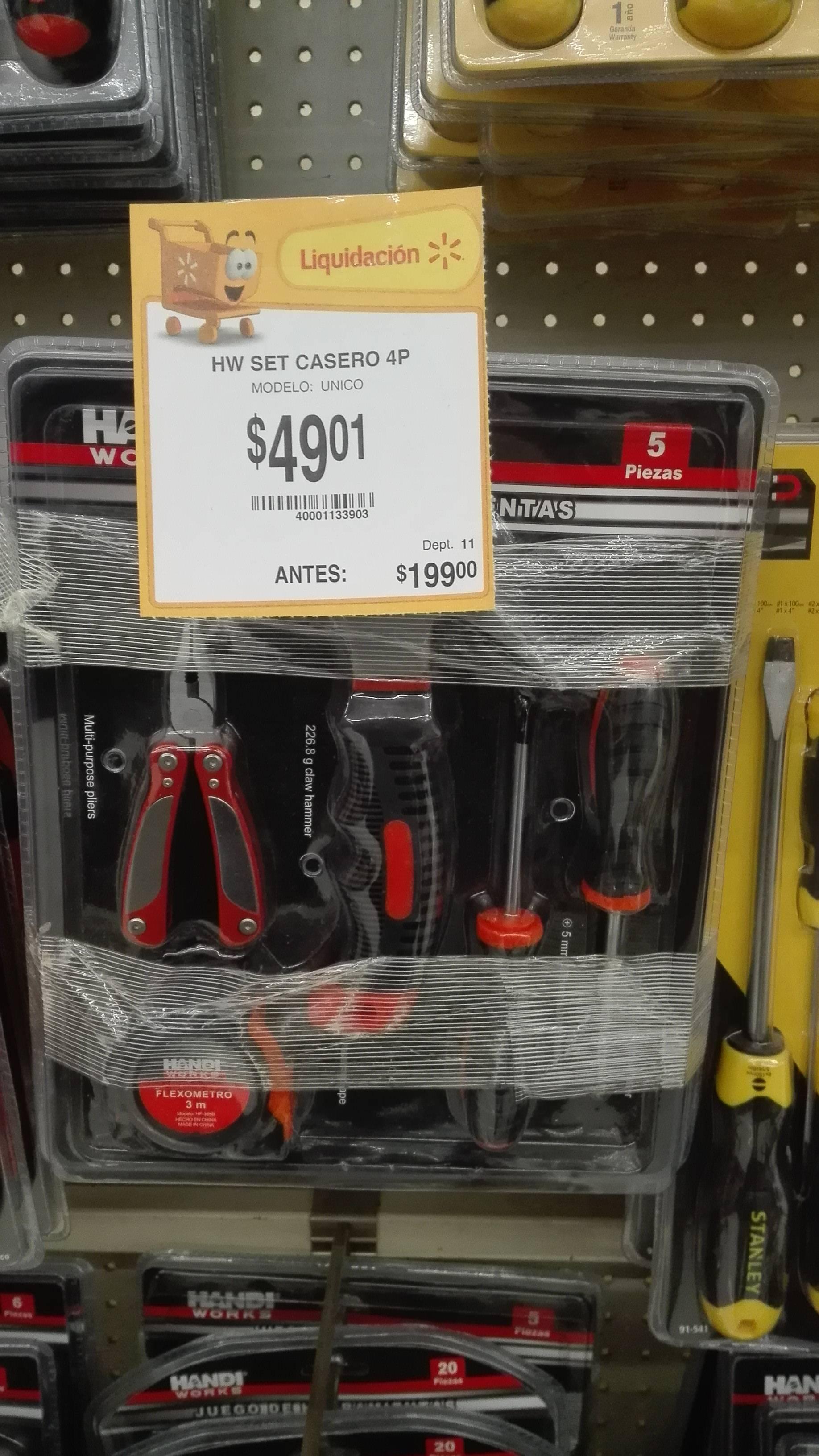 Walmart: Set de herramienta a $49.01 y más