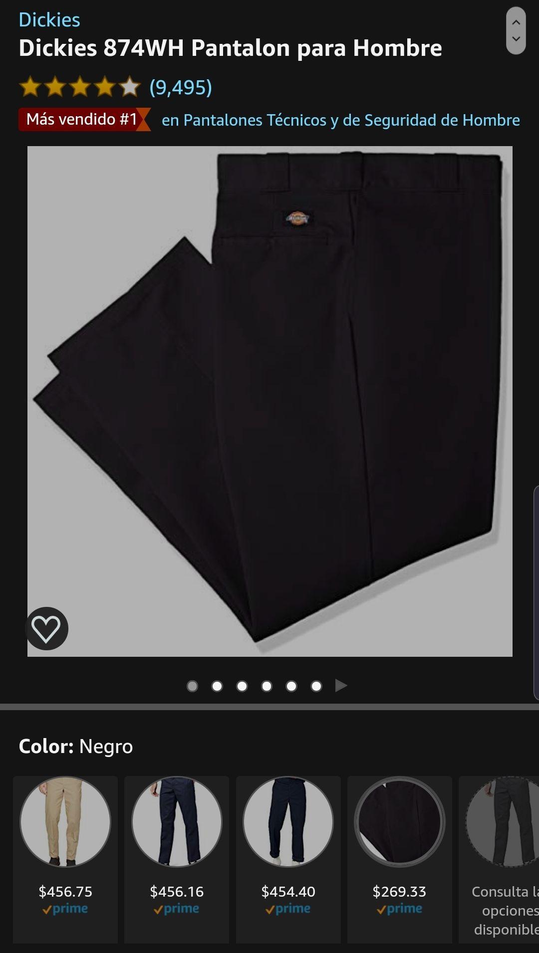 Amazon Pantalon Dickies Negro