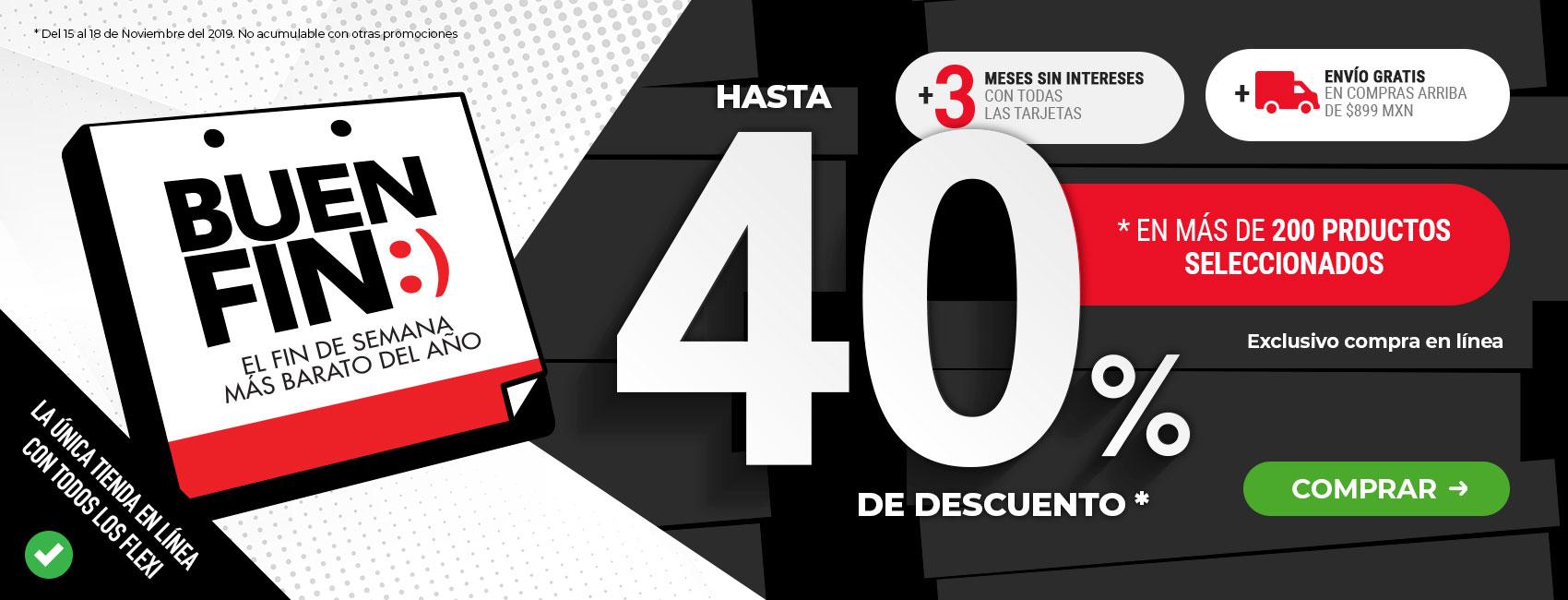Ofertas Buen Fin Flexi: Hasta 40% de descuento en zapatos Flexi!