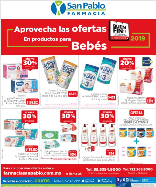 Descuentos en categoría bebés Farmacia San Pablo (con entrega gratis mismo día)