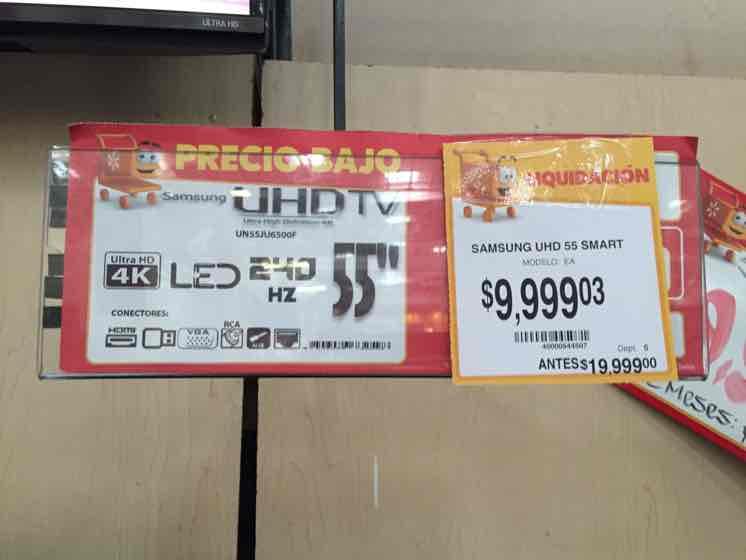 """Walmart GDL: TV Samsung LED 4K 55"""" a $9,999"""