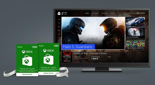 Microsoft tienda en línea: Tarjetas de regalo de Xbox con descuento del %10