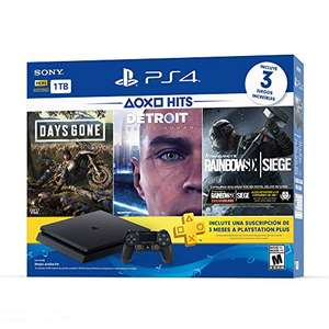 Amazon: Playstation 4 Hits 1TB con 3(+1) juegos: Days Gone + Detroit: Become Human + Tom Clancy's Rainbow Six + The last of Us remasterizado