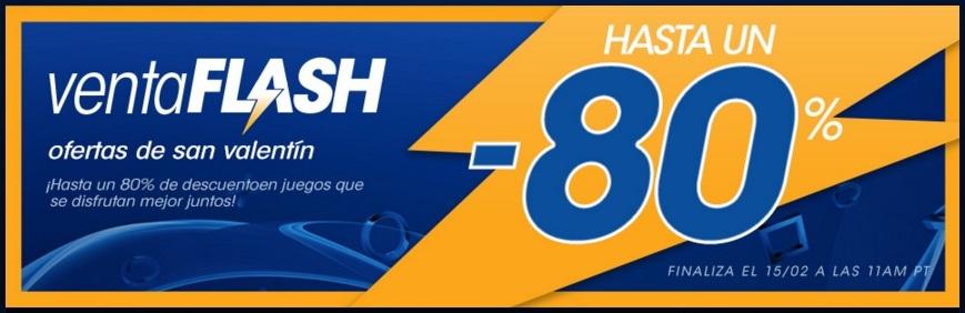PlayStation Store: Venta Flash de San Valentín hasta el 15 de febrero.