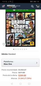 Amazon Gta 5 standard edition para xbox one