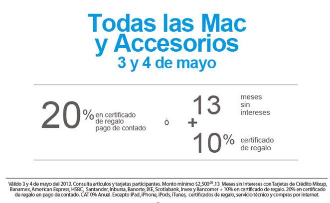 Promociones en computadoras Mac en iShop Mixup y MacStore
