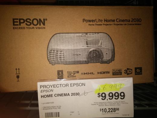 Sam's Club: proyector 3D Epson 2030 a $6,999