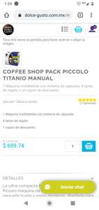 Dolce gusto: COFFEE SHOP PACK PICCOLO TITANIO MANUAL