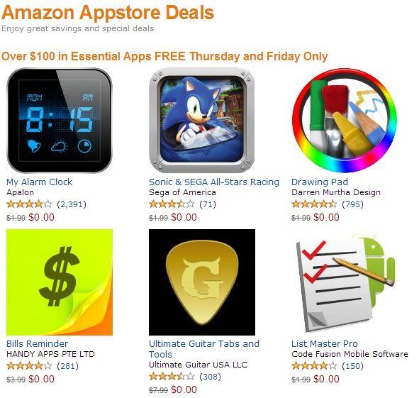Amazon: 30 aplicaciones para Android gratis