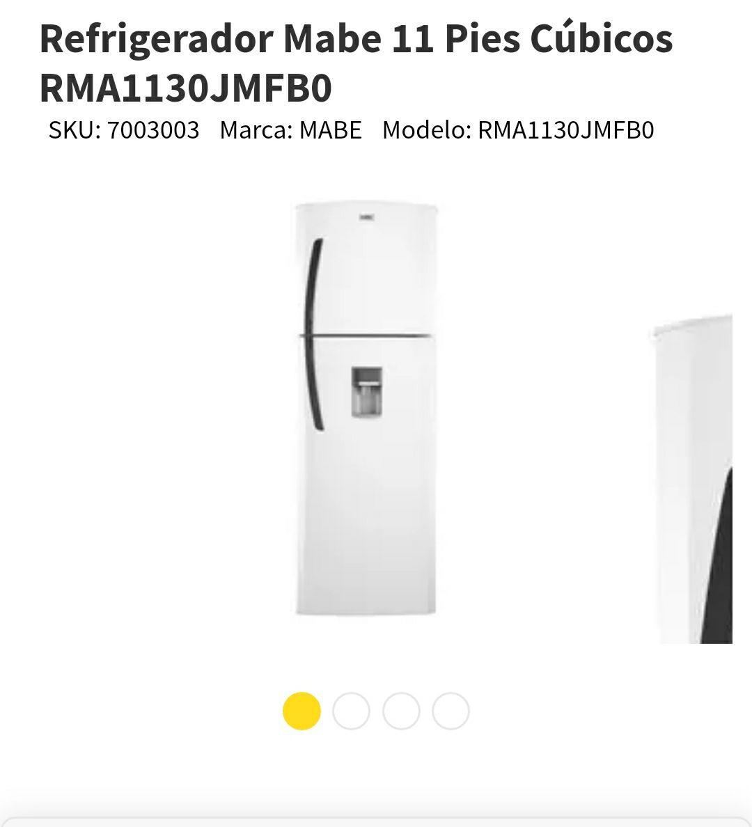 Elektra: Refrigerador Mabe 11 Pies Cúbicos pagando con Paypal