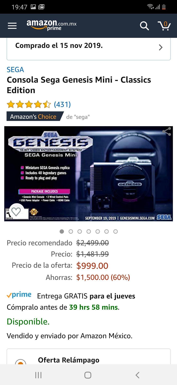 Amazon: Sega Genesis Mini