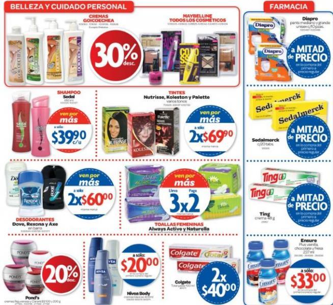 Farmacias Benavides: 3x2 en pañales, jabones Dove y Grisi, toallas Always Active y Naturella y +