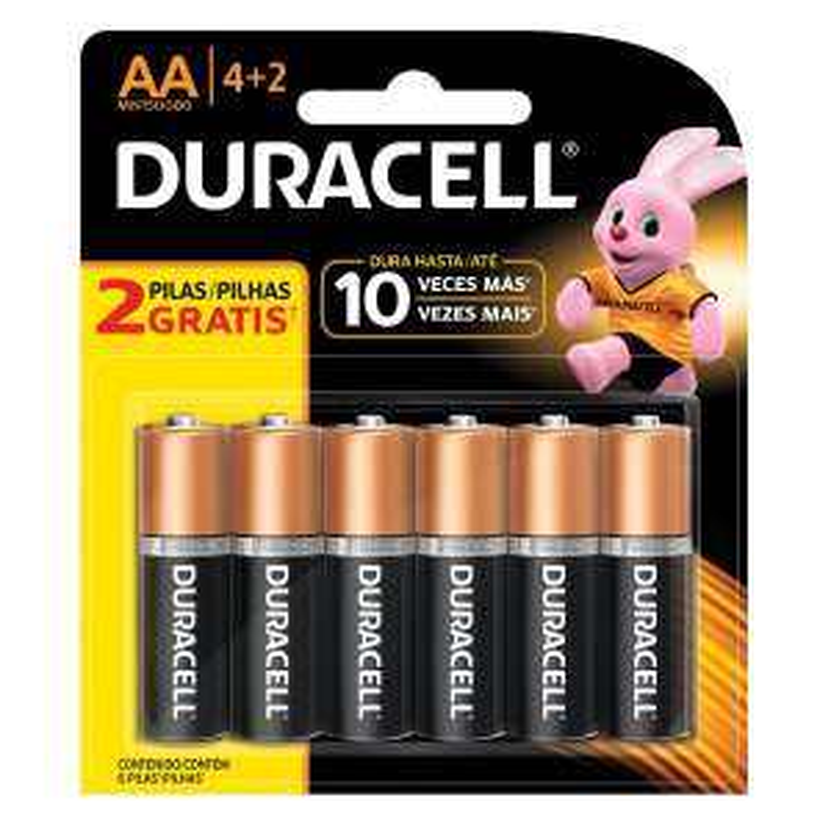 Sanborns: Pila Duracell AA 4+2 (6 pilas)