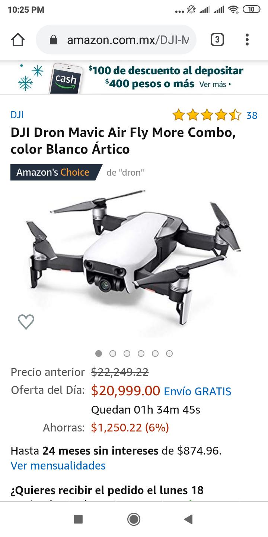 Amazon: Mavic Air $17,354.54 Banamex