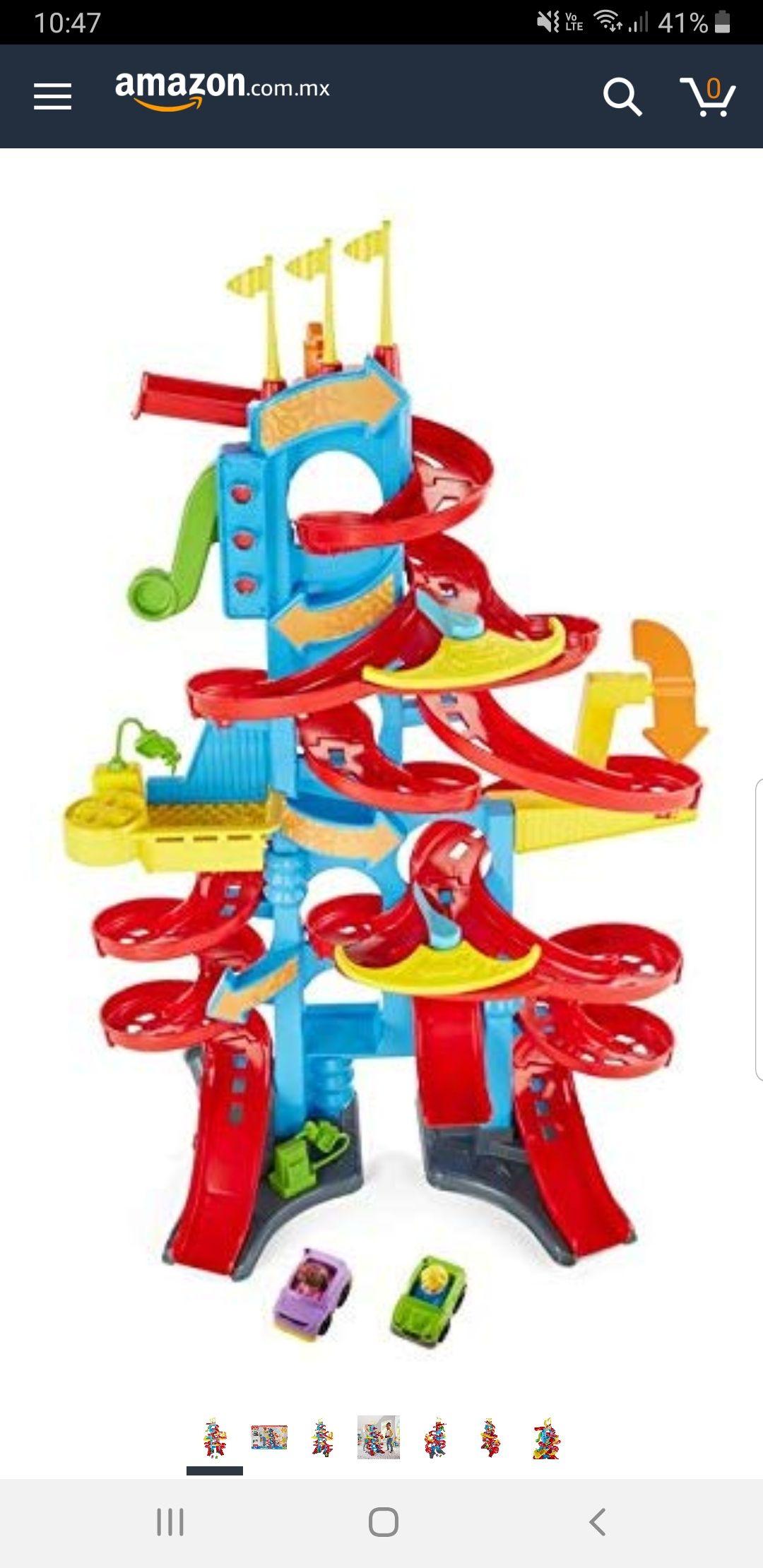 Amazon: Fisher Price Mattel Playset Little People Gran Pista Rascacielos