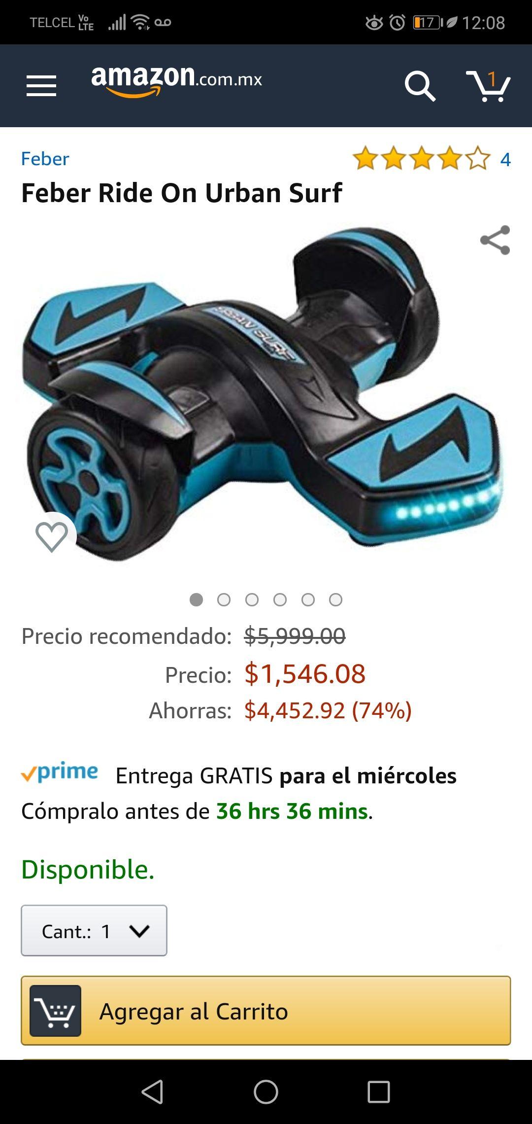 Amazon: Feber rider urban surf