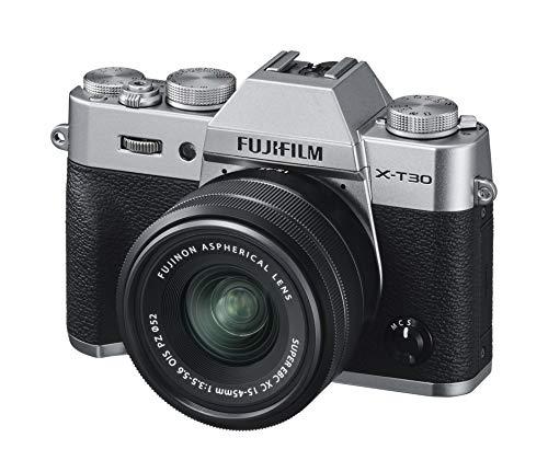 Amazon: Fujifilm Cámara X-T30 Plata + XC15-45mm
