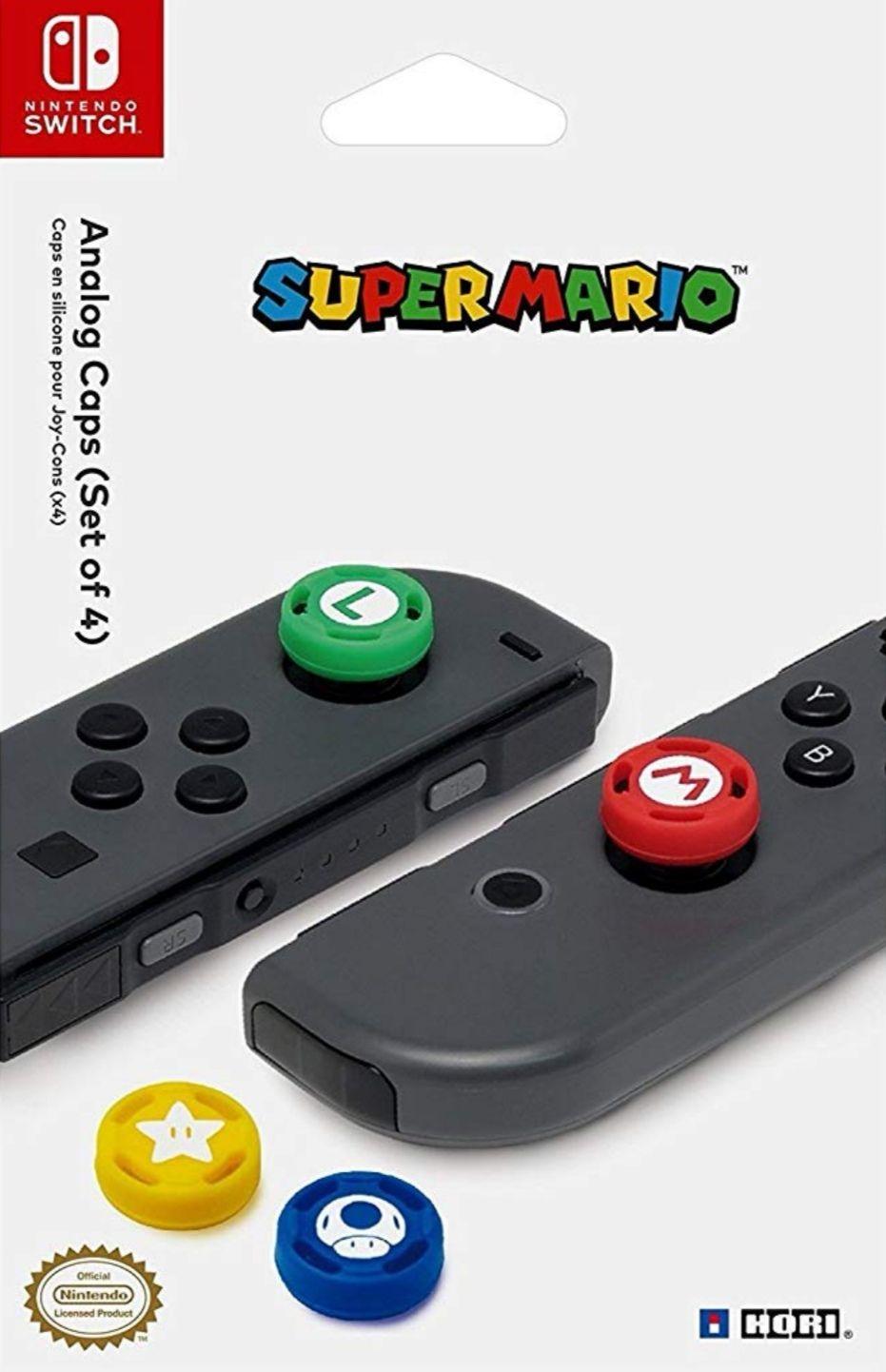 Amazon: Super Mario Analog Caps - Nintendo Switch