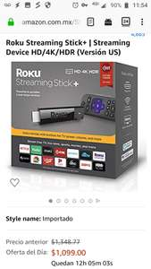 Amazon MX, Oferta del día: Roku Streaming Stick+