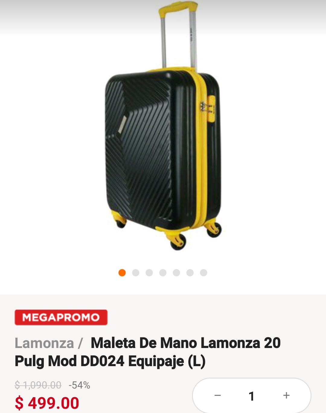 Linio Maleta Rígida 20'' ($449 con el -10% Paypal)