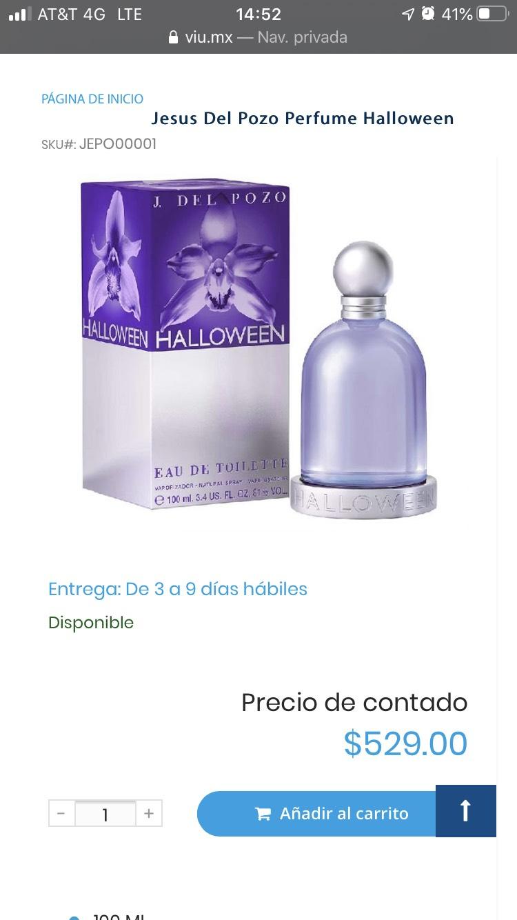 VIU perfume hallowen Jesús del pozo (Banamex)