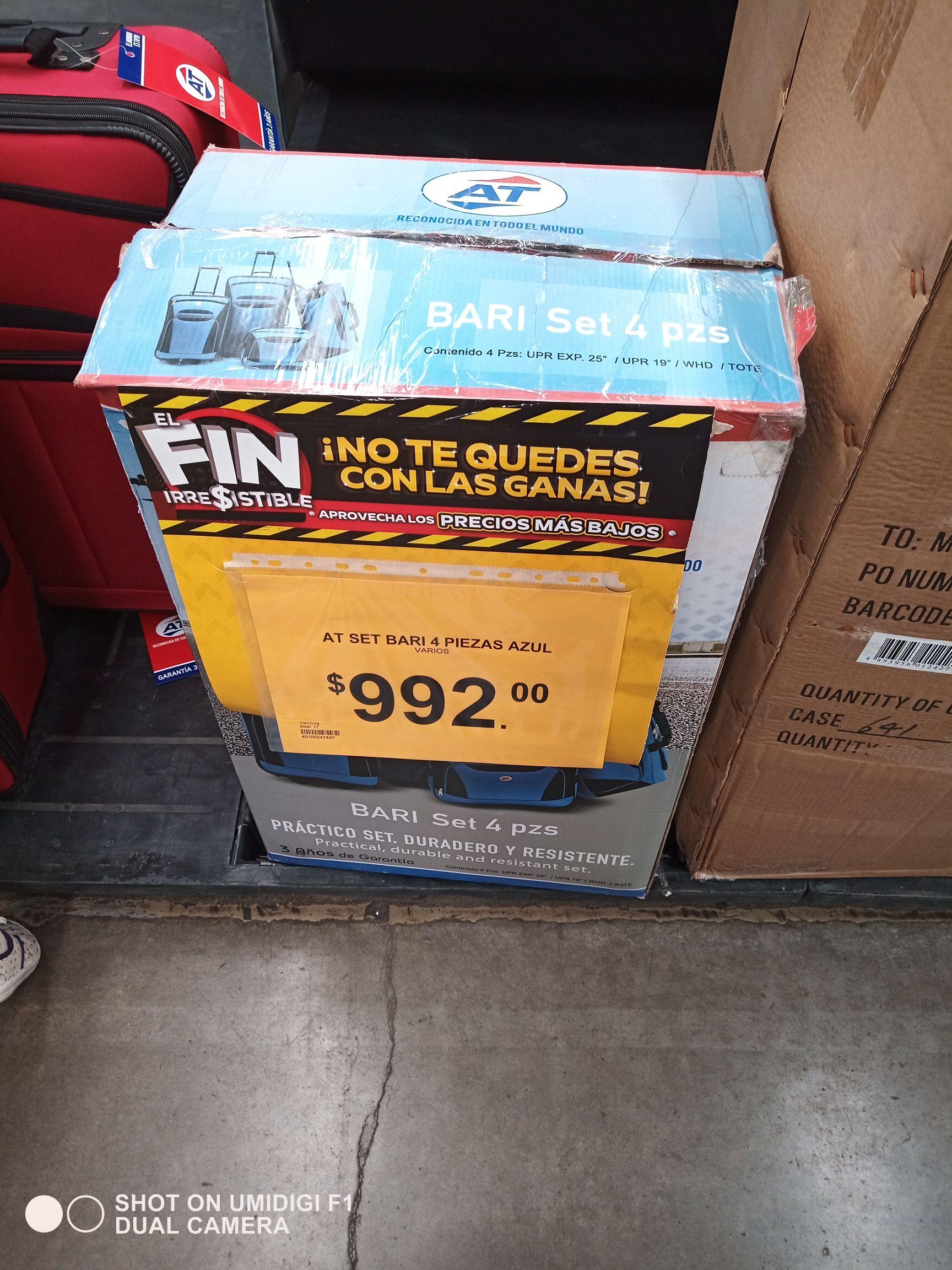 Bodega Aurrera: Set de 4 maletas