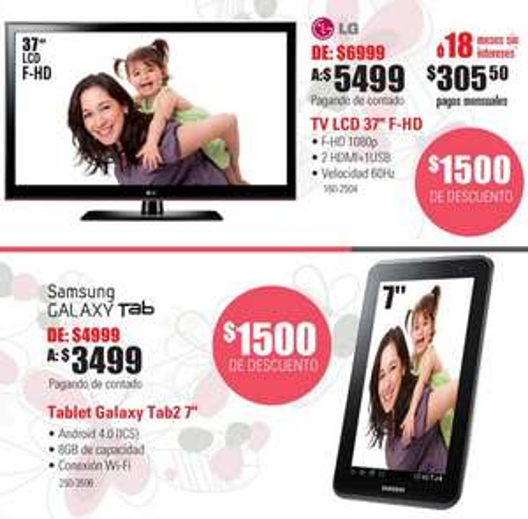 """RadioShack: pantalla LCD LG 37"""" $5,499, descuento en iTunes y más"""