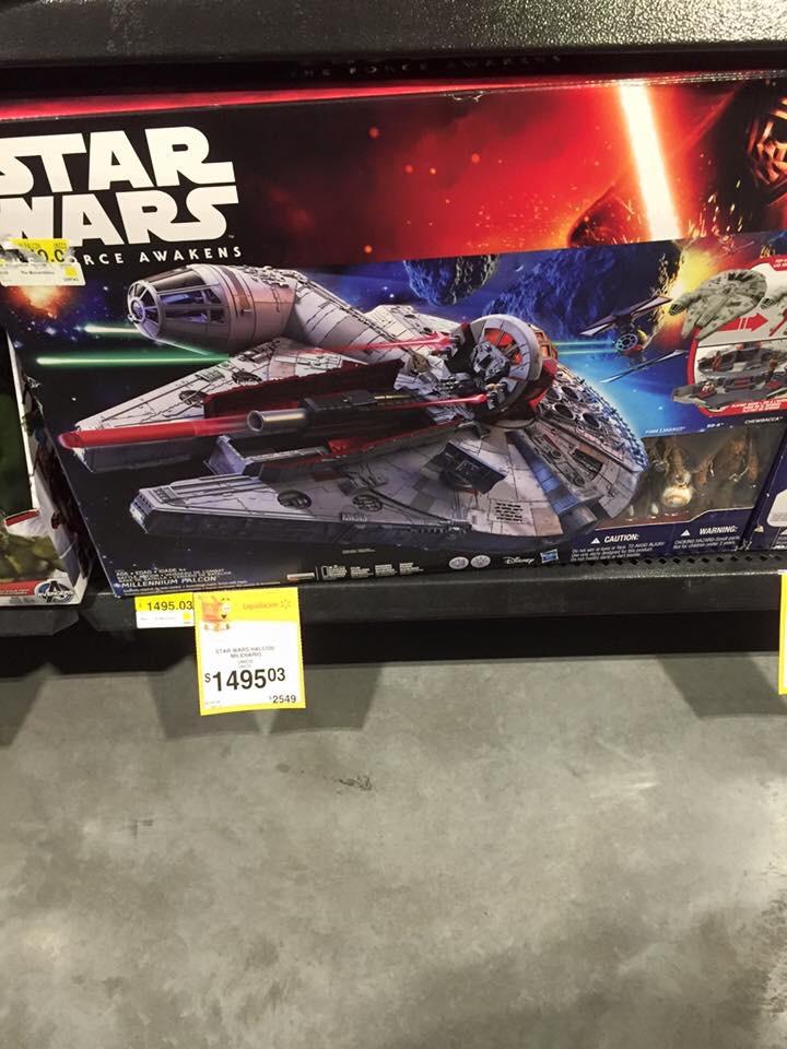 Walmart: Star Wars Halcon Milenario de $2,549 a $1,495
