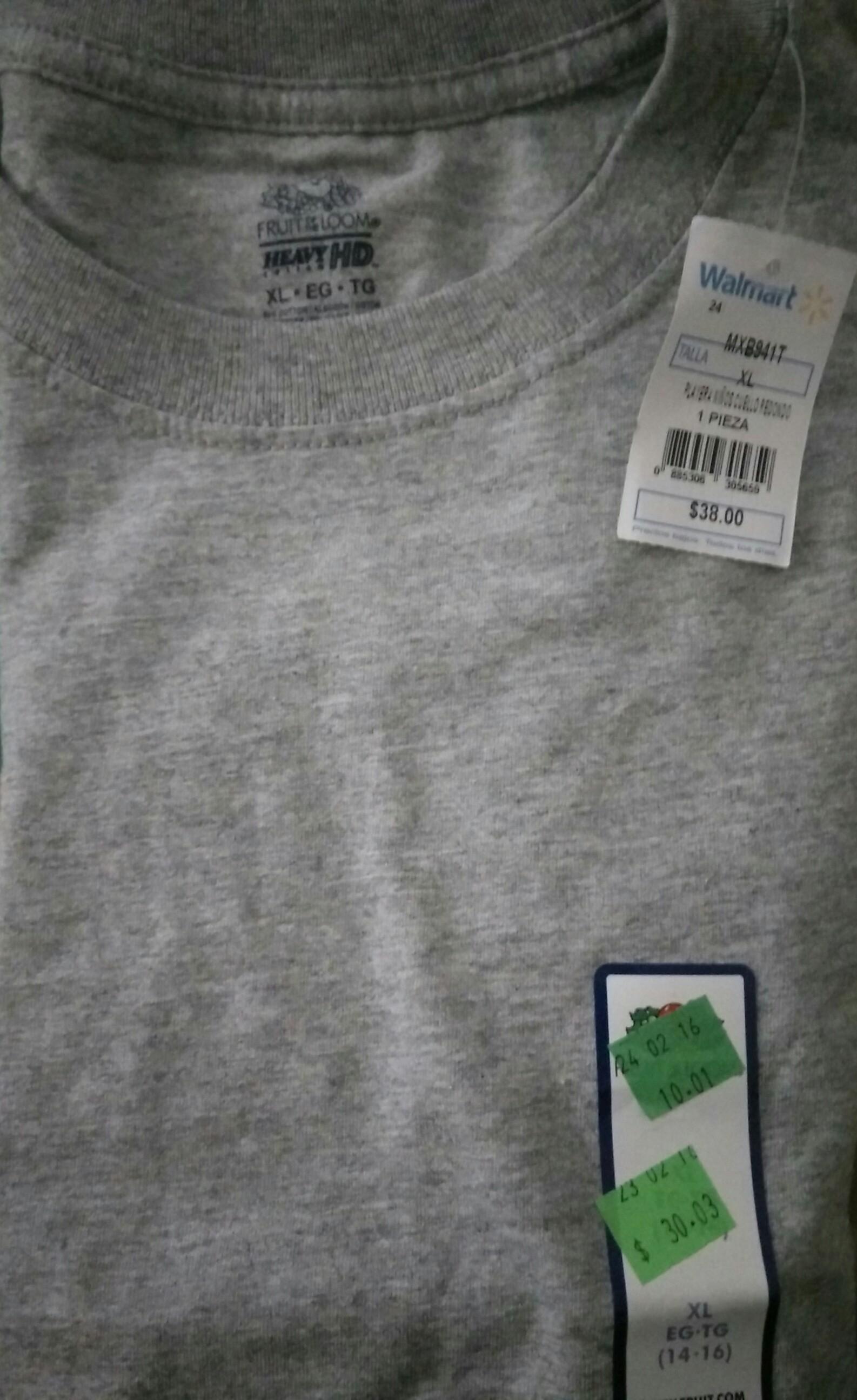 Walmart: playeras Fruit of the Loom para niños a $10.01