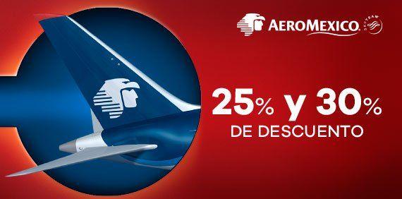Club Premier: Rutas Aeroméxico con 25% y 30% de descuento