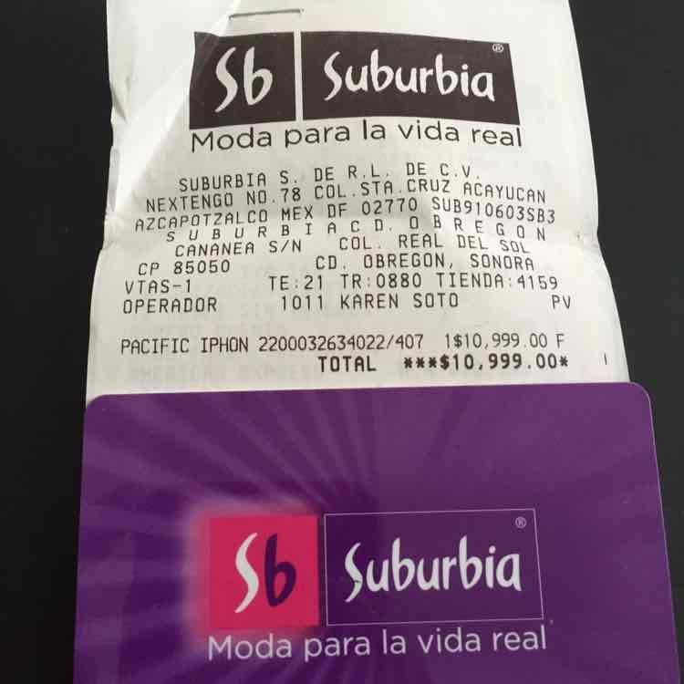 Suburbia Sonora: IPhone 6 a $10,999 + $1,649 en monedero