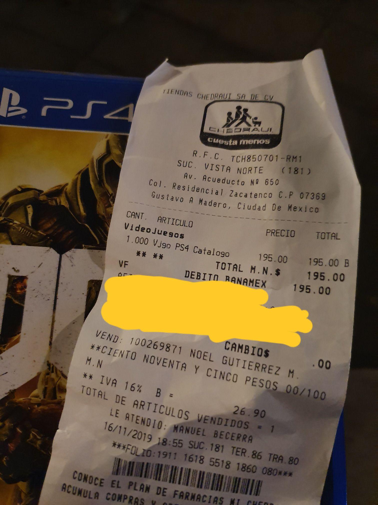 Chedraui en línea y tienda: Doom para PS4