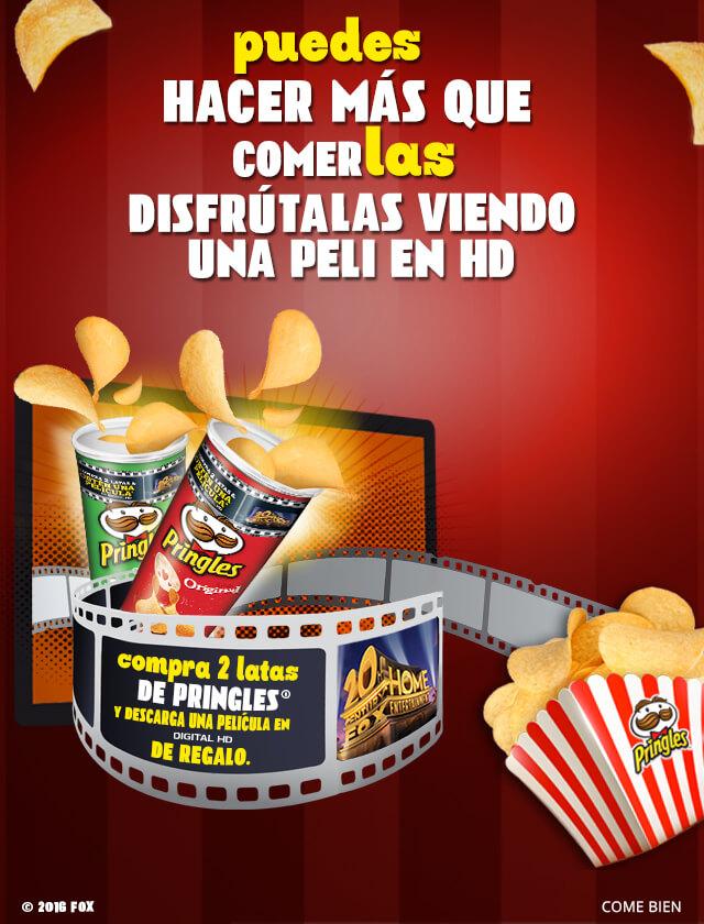 Google Play Movies: Pelicula en HD seleccionada de Fox gratis comprando dos latas de Pringles