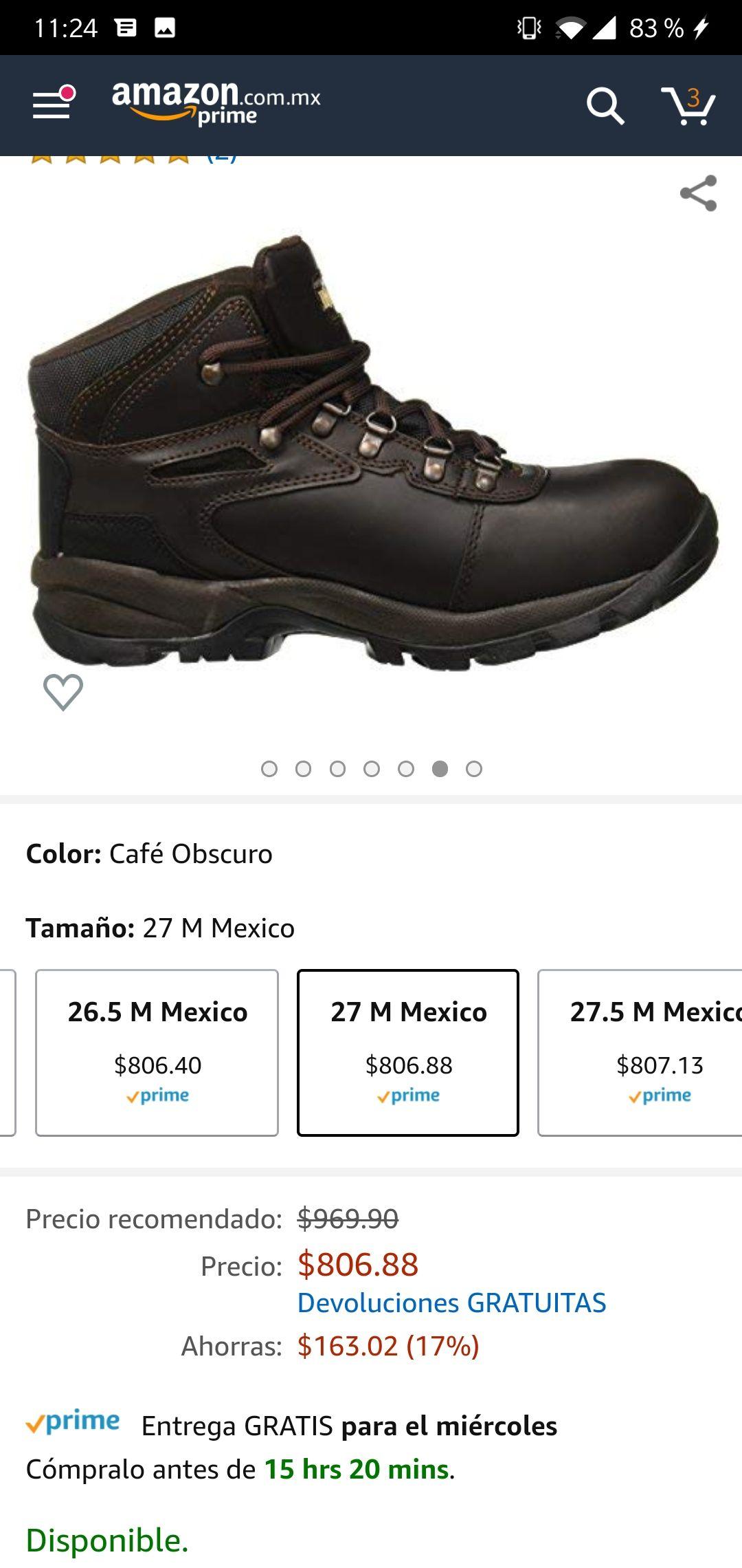 Amazon: Botines Ferrato 27 Cm
