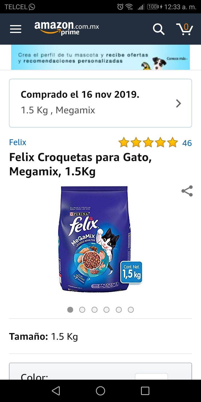 Amazon: Félix croquetas 1.5 kg (comprando 4)