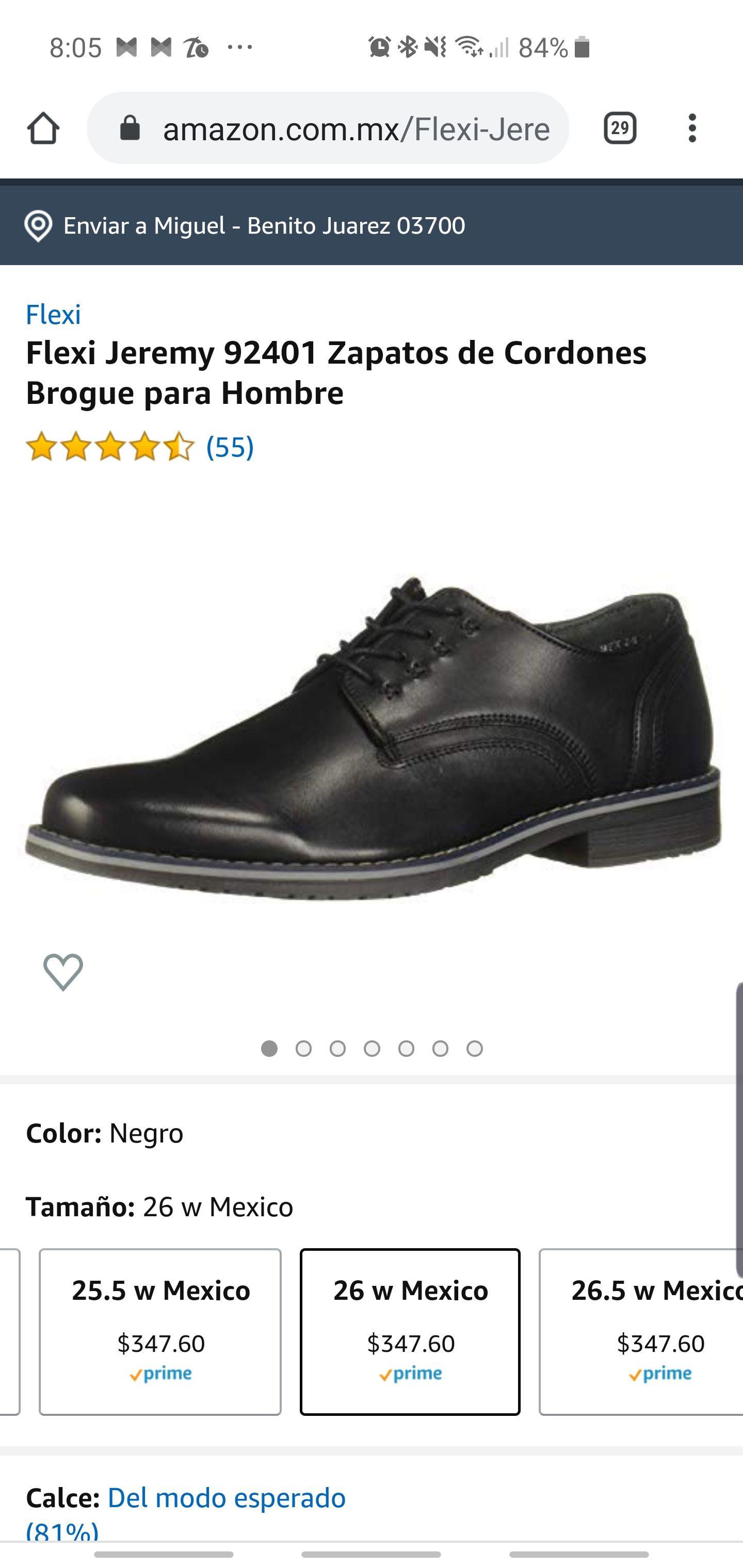 Amazon: Zapatos Flexi negro muchas tallas