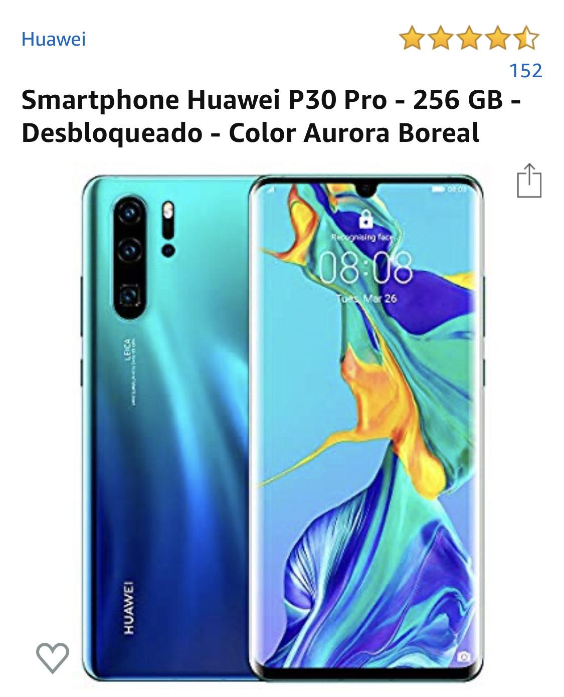 Amazon: Huawei P30 Pro (Pagando con Banorte)