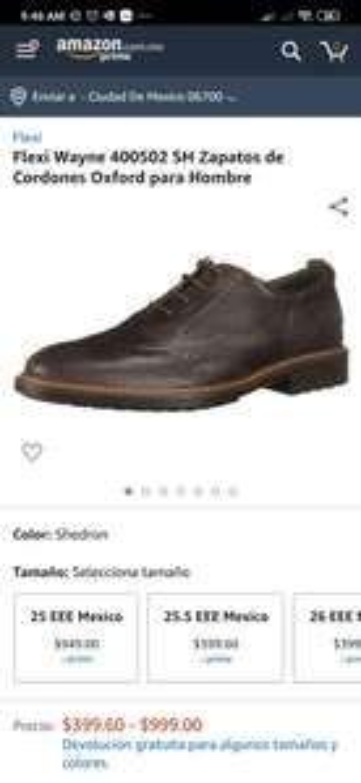 Amazon: Zapato Flexi Oxford varias tallas
