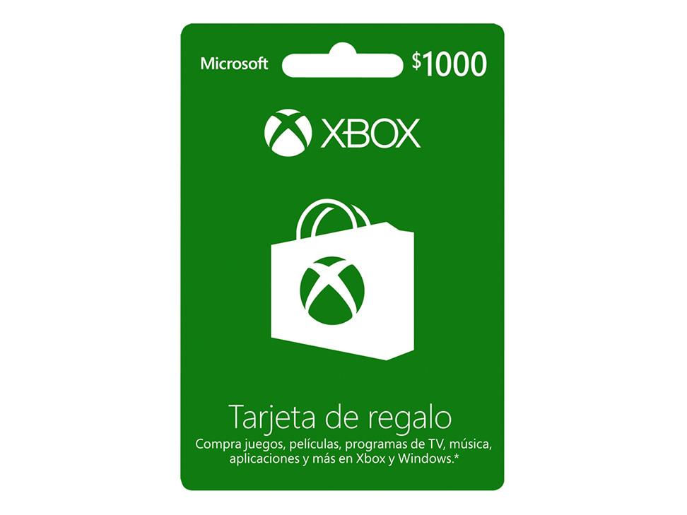 Liverpool en línea: tarjetas de prepago Xbox 20% descuento, ejemplo: tarjeta de $1,000 a $800