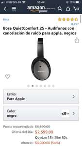 Amazon: BOSE QC25 noise canceling apple / android