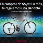 Lumen: Bicicleta benotto gratis en compras superiores 5999
