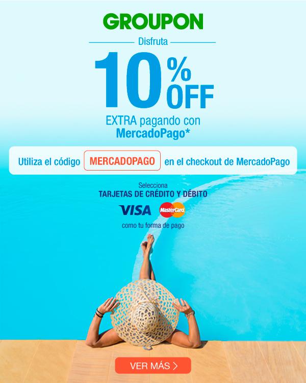 Groupon: 10% de descuento extra pagando con MercadoPago
