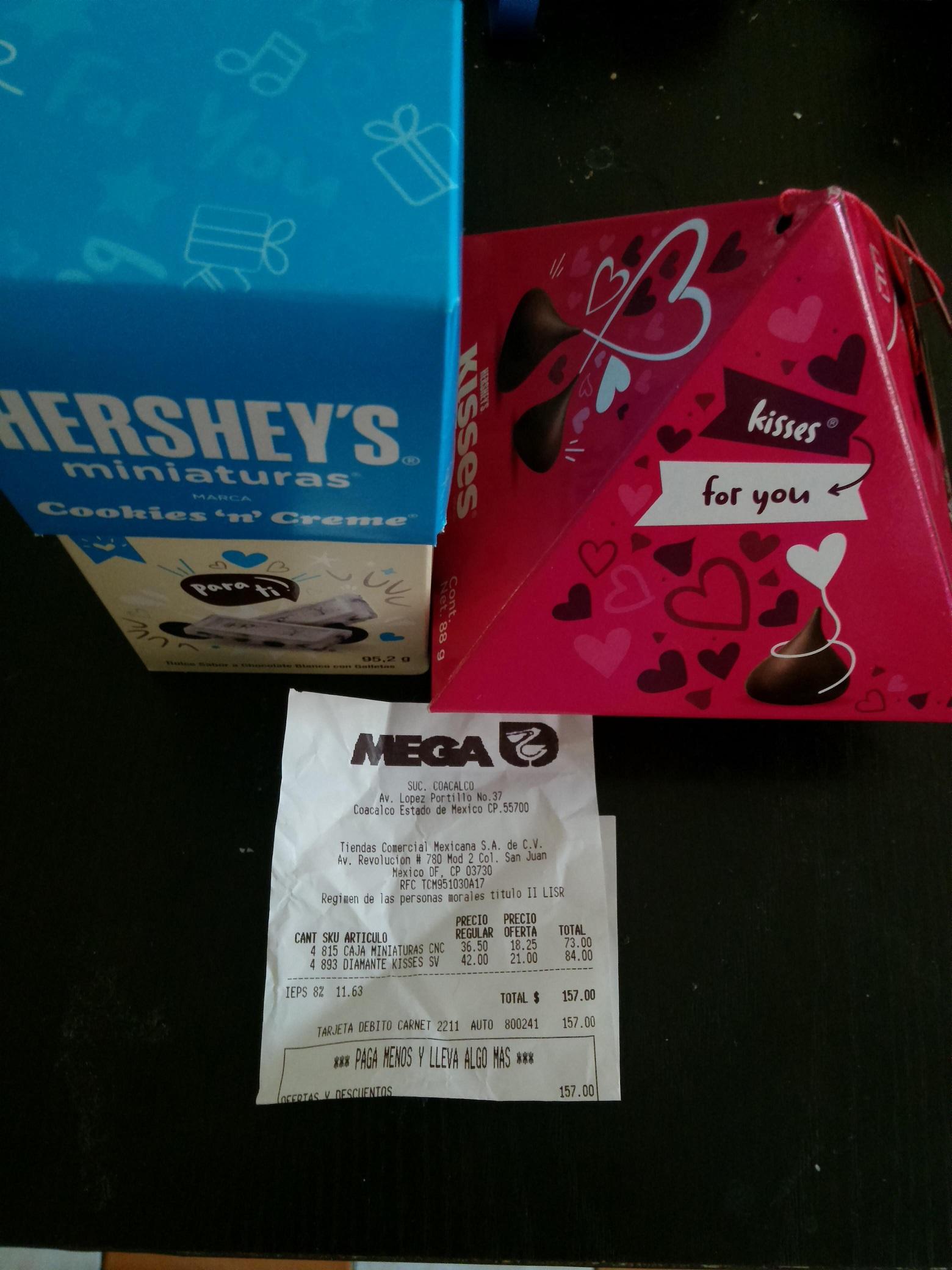Comercial Mexicana: 50% de descuento en Chocolate Hershey's,