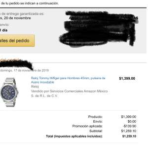 Amazon: RELOJ TOMMY PAGANDO CON AMAZON RECARGABLE