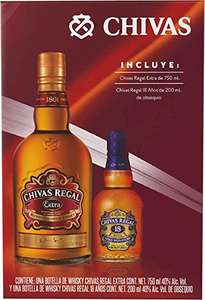 Amazon: Chivas regal extra con botellita de chivas 18